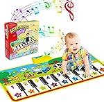 WOSTOO Piano Mat, Musical Piano Mat Keyboard Play Mat Portable Musical