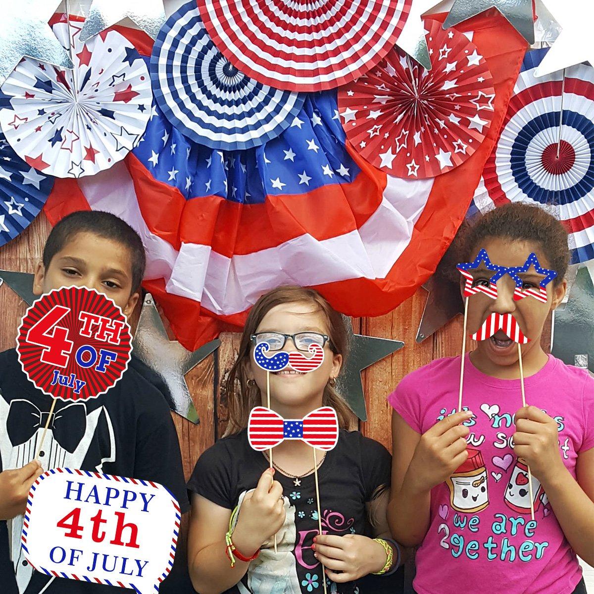 BESTOYARD 12 st/ücke Kreative Geburtstag Photo Booth Streifen Party Fotografie Kits Dress Up Party Dekoration