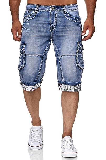 ArizonaShopping - Shorts Leo Gutti Uomo Jeans Pantaloncini Corti Cargo Bermuda  Pantaloni H2410 21a76134c5f7