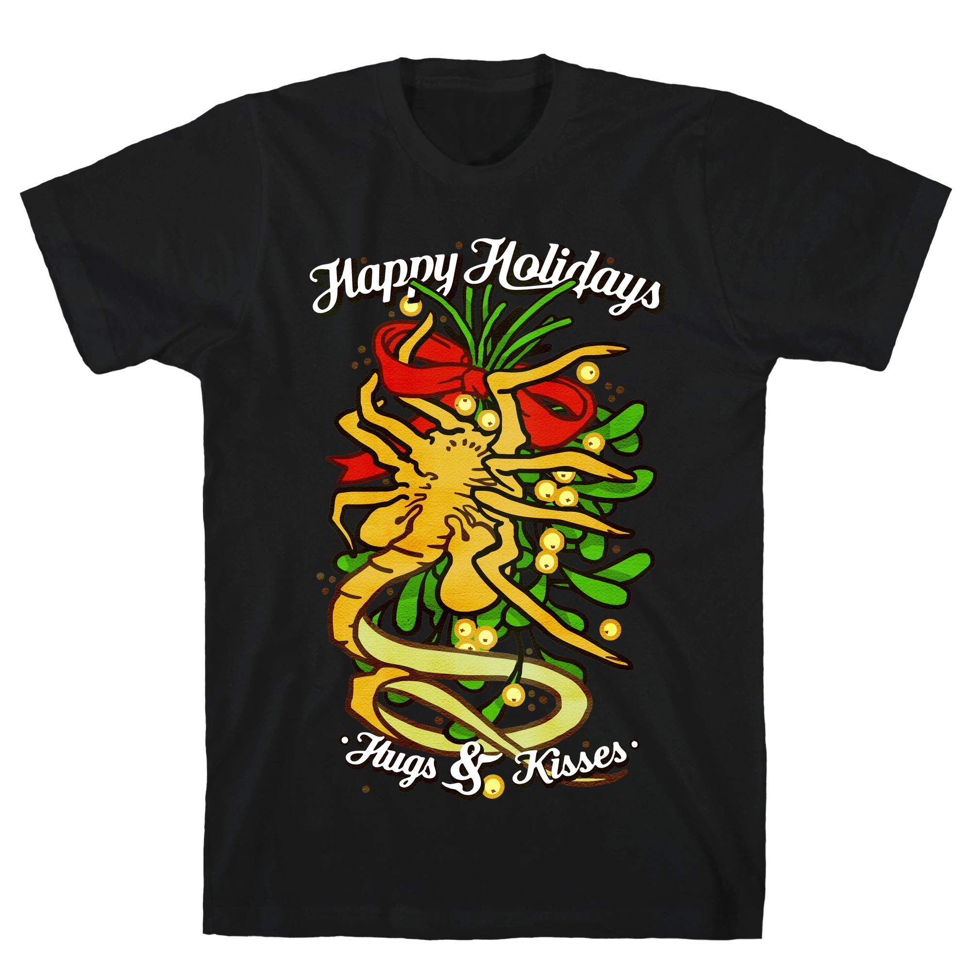 Happy Holidays Hugs And Kisses Black S Ts Shirts