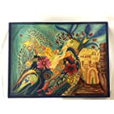Decorative Wooden Shabbat Challah Cutting Board - The Shabbat Queen