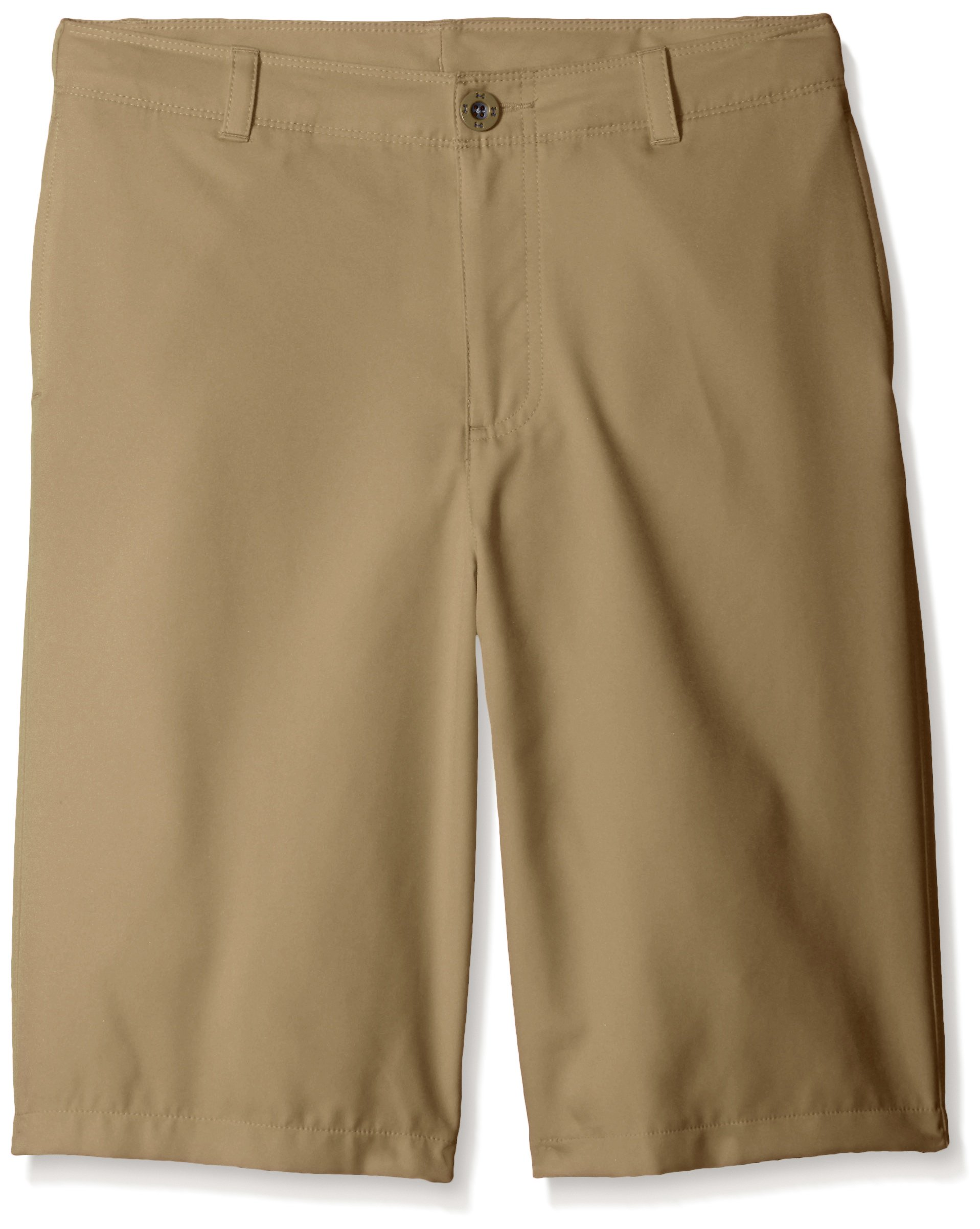 Under Armour Boys' Medal Play Golf Shorts, Canvas (254)/Graphite, Youth X-Large by Under Armour