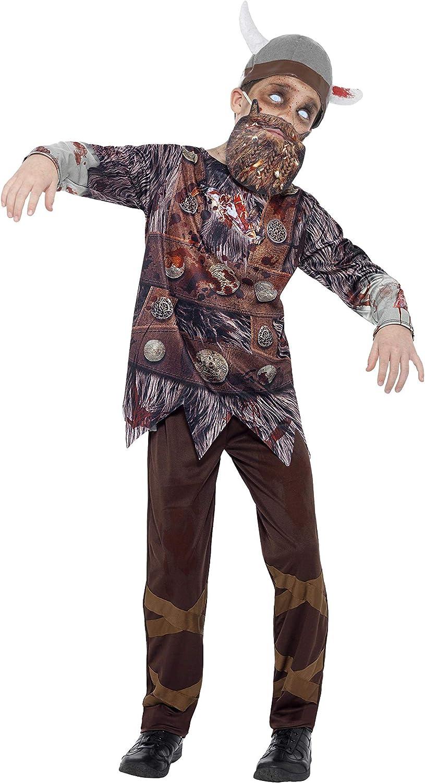 Smiffys - Disfraz de vikingo zombie para niños (45621M): Amazon ...