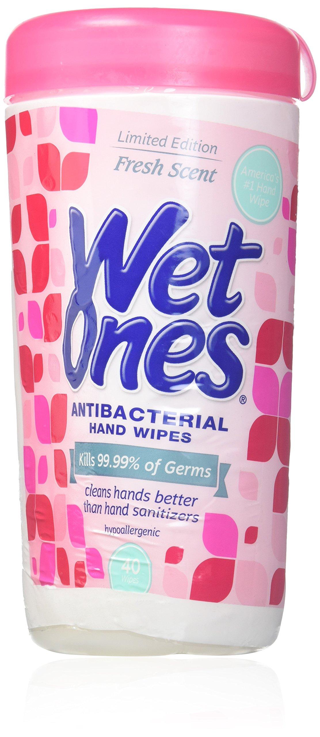 WET ONES Antibacterial Hand Wipes, Fresh Scent 40 ea (Pack of 12) by Wet Ones