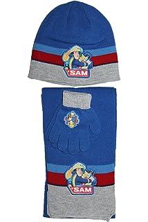Fireman Sam-ensemble bonnet gants écharpe sam le pompier-bleu gris  rouge-garçon ebeb890c47b