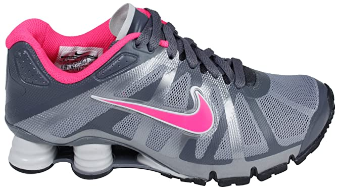finest selection df645 e3f73 Amazon.com   Womens Nike Shox Roadster+ Running Shoes Stealth Grey   Pink  Flash   Black 487603-060 (size 7.5)   Track   Field   Cross Country