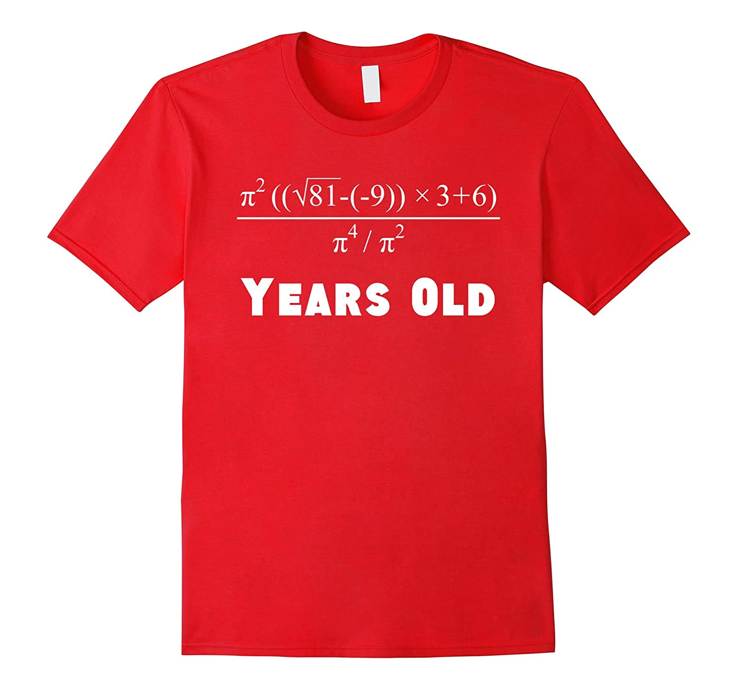 e4491af1 60 Years Old Algebra Equation Funny 60th Birthday Math Shirt-TD – Teedep