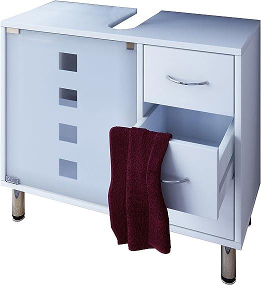 Vcm Waschtischunterschrank Bad Mobel Unterschrank Schubladen Badschrank Badmobel Weiss 67 X 56 X 30 Cm Darola Amazon De Kuche Haushalt