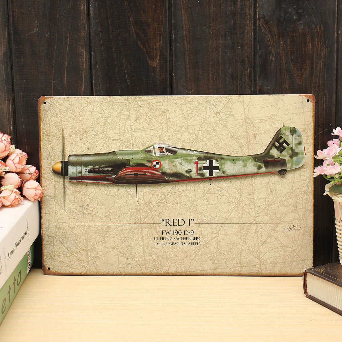 Amazon.com: Chinis 20x30cm World War Vintage Aircraft Plane Military ...