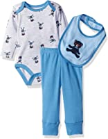 Rene Rofe Baby Boys' Blue Bear 3 Piece Turn Me Round Pant Set with Bib and Bodysuit