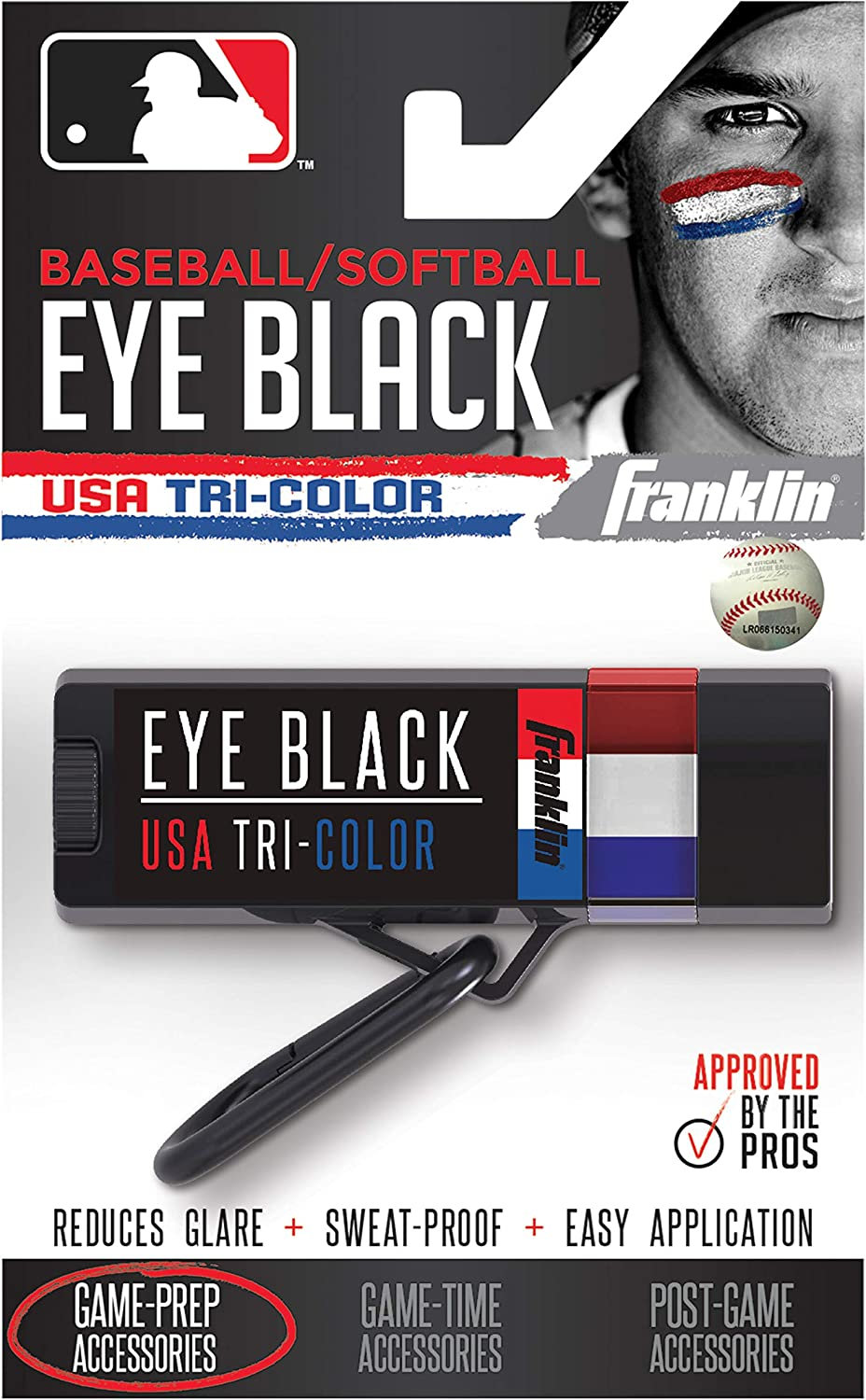 Franklin Sports MLB Eye Black - Glare Reduction Eye Black For All Athletes - Baseball Eye Black or Softball Eye Black - Eye Black Paint for Kids, Adults, Athletes, Baseball, Softball Players