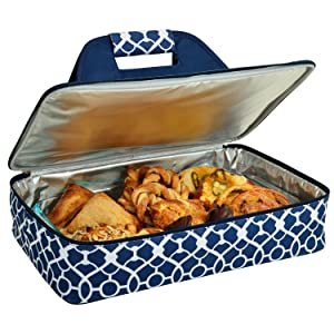 "Picnic at Ascot Original Insulated Thermal Food & Casserole Carrier- keeps Food Hot or Cold- Fits 15"" x 10"" Casserole Dish- Designed & Quality Approved in the USA"