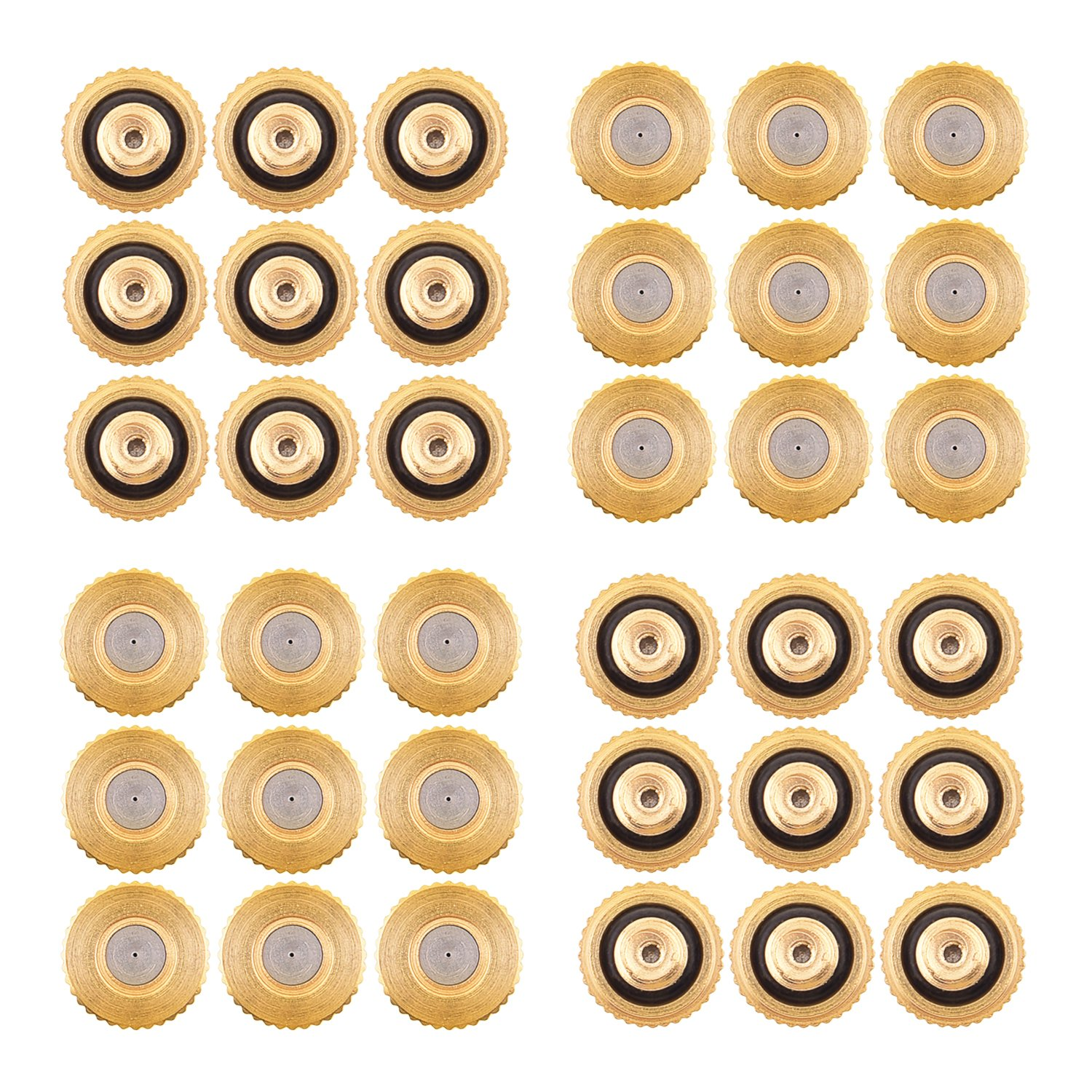 Sunmns 36 Pack Brass Misting Nozzles Outdoor Cooling System Greenhouse Landscaping Dust Control, 0.012 inch Orifice (0.3 mm) 10/24 UN