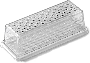 Chef Craft 21458 Plastic Butter Dish, One Size, Clear