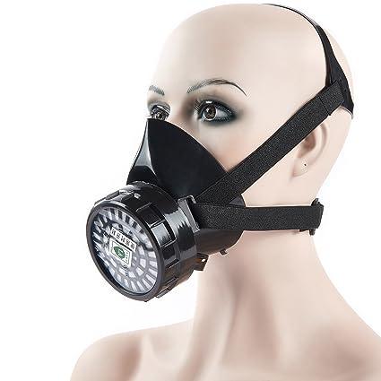 mufly reutilizable media máscara de polvo Máscara mascarilla Antigas máscara mascarilla máscara de gas industrial respirador