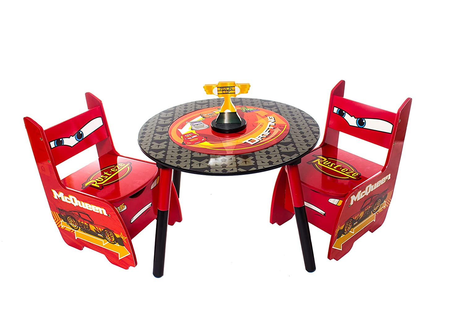 Disney Cars Lightning McQueen Childrens Wooden Table And Two Chairs Set    Kids Bedroom / Playroom: Amazon.co.uk: Kitchen U0026 Home