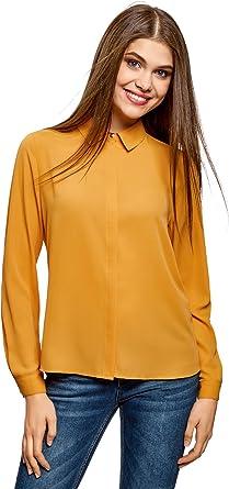 oodji Ultra Mujer Blusa de Tejido Fluido: Amazon.es: Ropa y accesorios