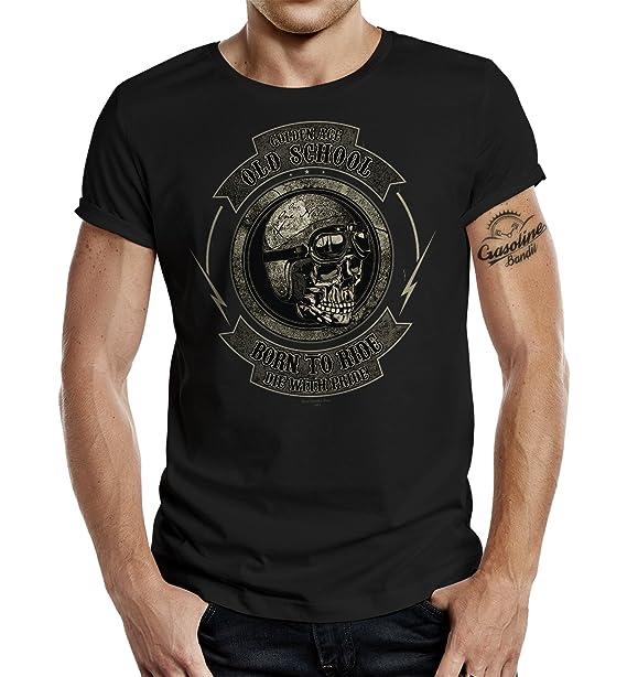 GASOLINE BANDIT® Original Biker T-Shirt: Golden Age Old School