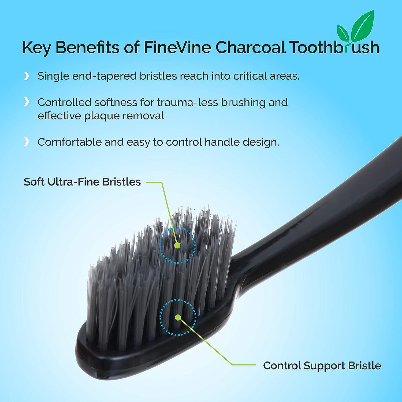 Amazon.com: FineVine Cepillo de dientes de carbón – Pack de ...