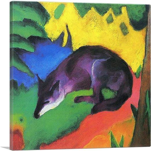 various sizes Blue Black Fox fine art giclee print poster Marc