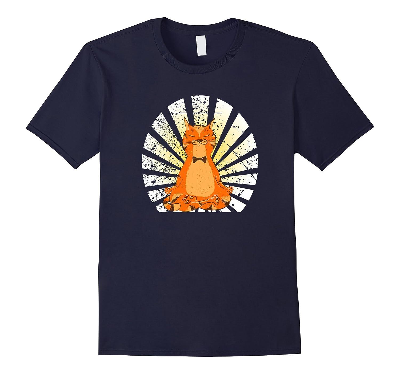 Zen Meditation Yoga Cat Lover T-shirt-CL