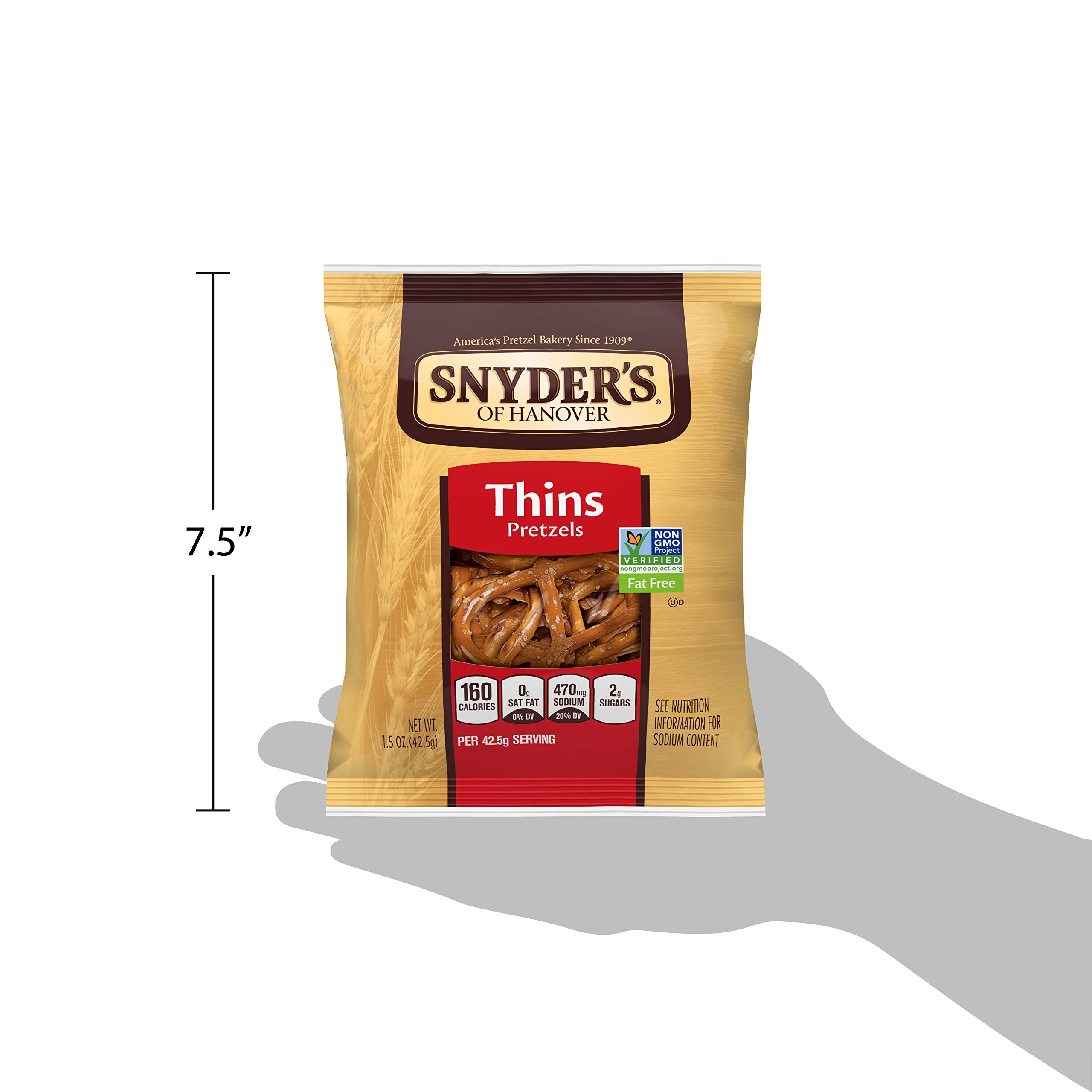 Snyder's of Hanover Pretzels, Thins, Single-Serve 1.5 Ounce (Pack of 60) by Snyder's of Hanover (Image #7)