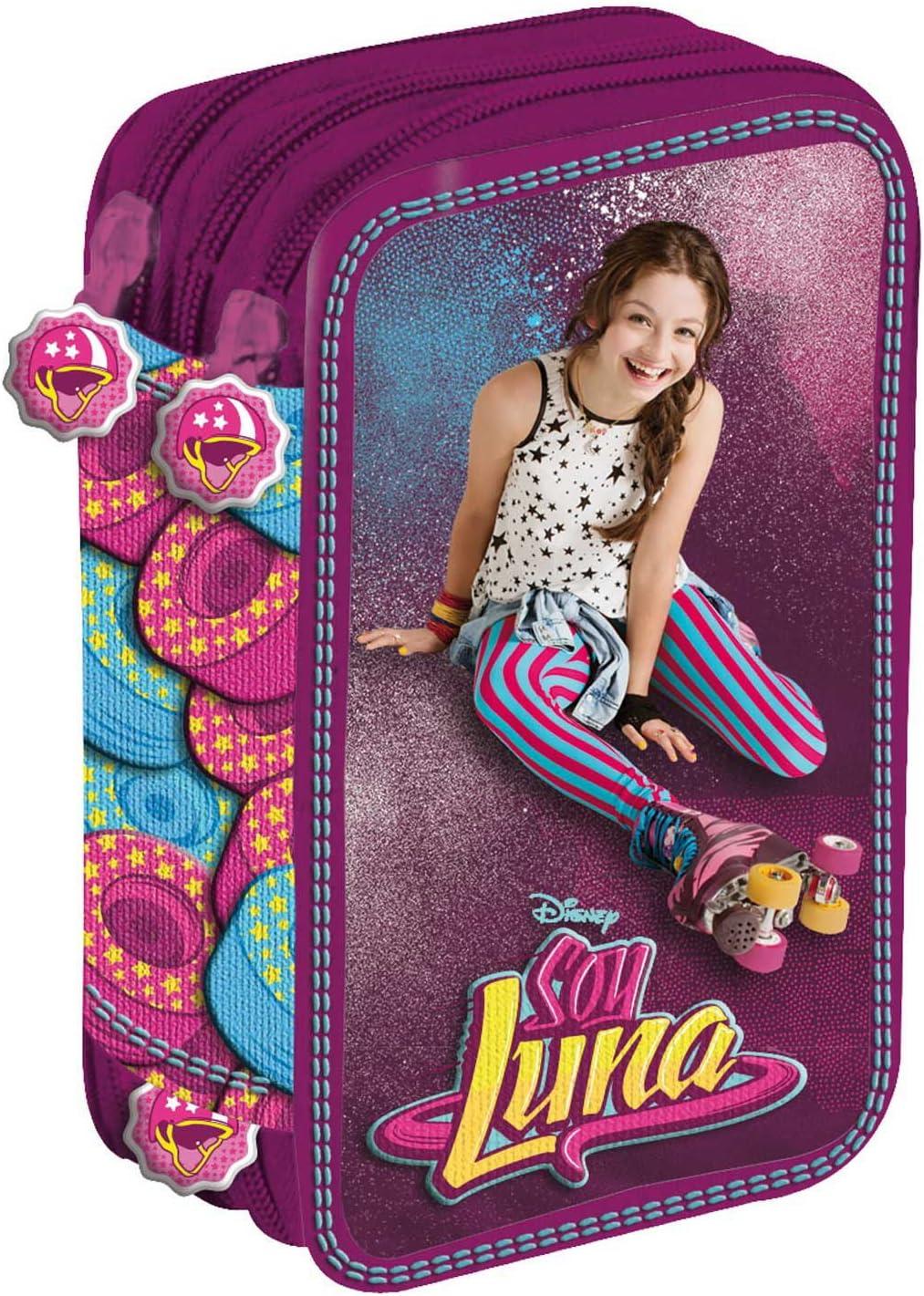 DISNEY - Plumier Soy Luna Disney Star triple - 5903235610370: Amazon.es: Oficina y papelería