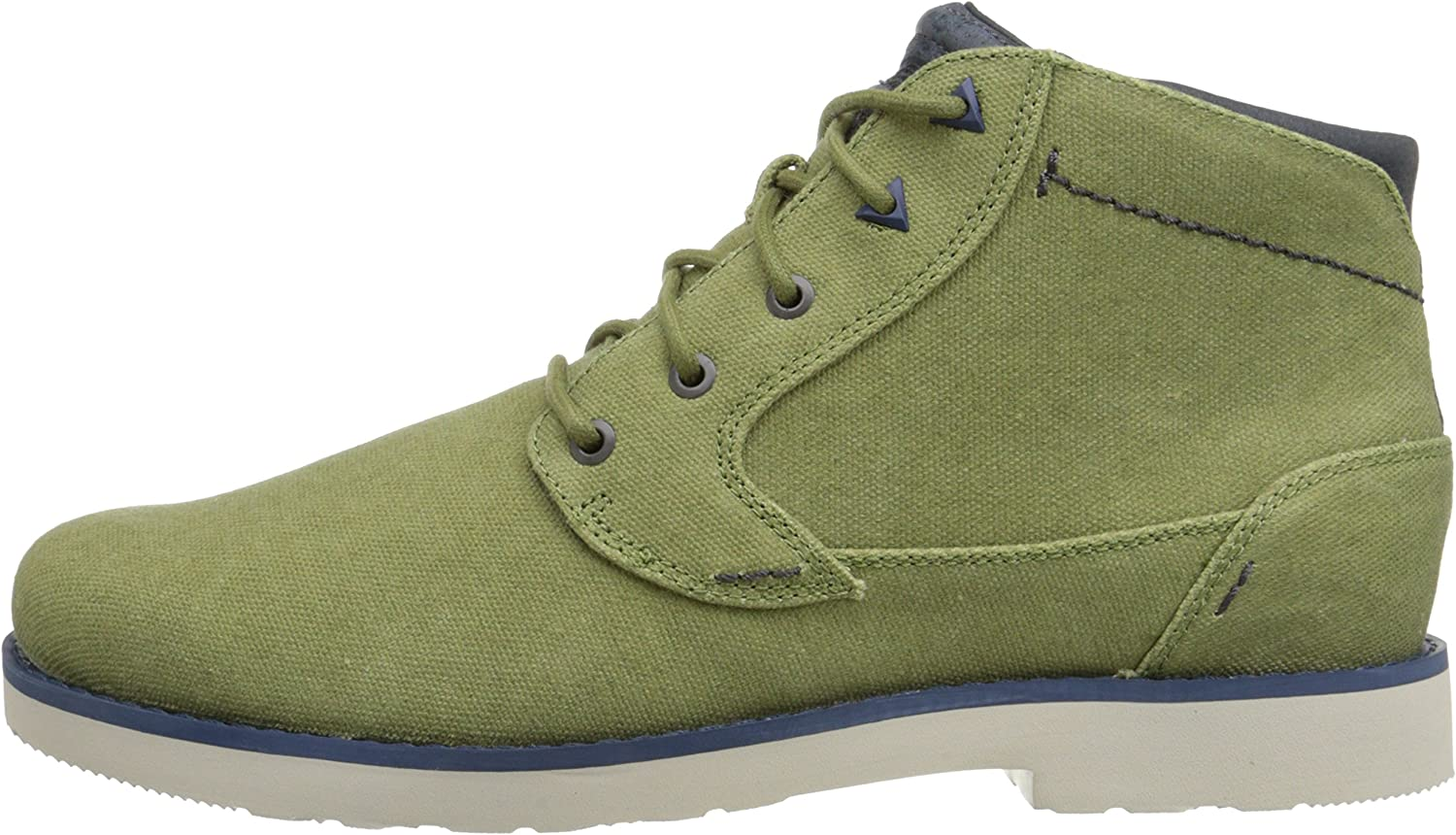 Teva Mens Durban Waxed Canvas Chukka Boot Shoes Avocado US 9.5
