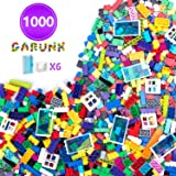 GARUNK Building Bricks 1000 Pieces Set, 1000 Pieces Classic Building Blocks in 11 Colors with Windows and Doors…