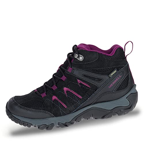 6230345bc41 Merrell Womens Shoe Outmost Mid Vent GTX Black: Amazon.es: Zapatos y ...