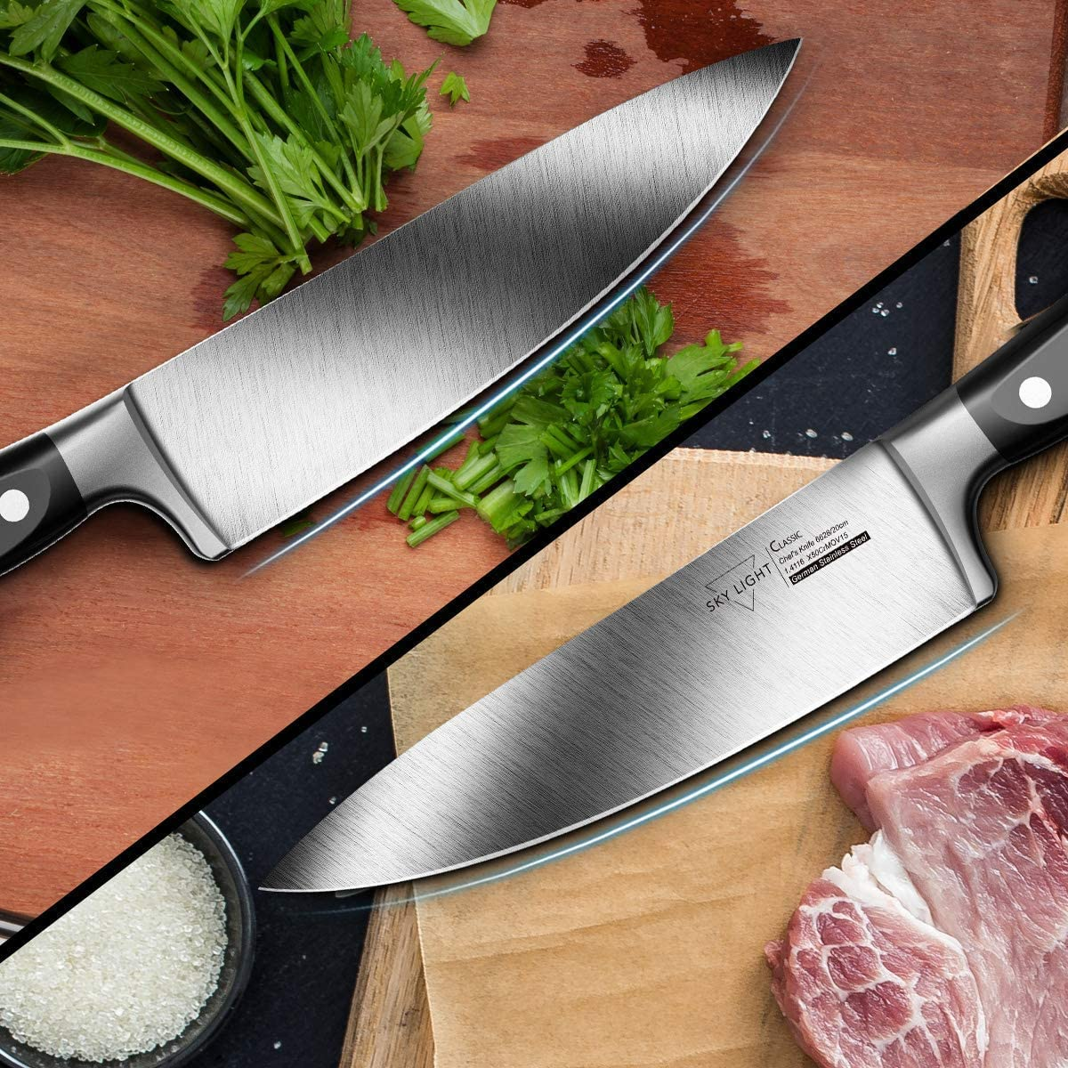 "9.Sky Light Chef Knife 8"""