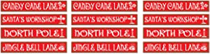 Beistle , 12 Piece North Pole Street Sign Cutouts, 4'' x 24''