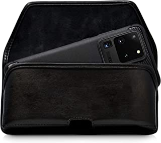 product image for Turtleback Belt Case Designed for Galaxy S20 S21 Ultra (2020) Belt Holster Black Leather Pouch with Heavy Duty Rotating Belt Clip, Horizontal Made in USA