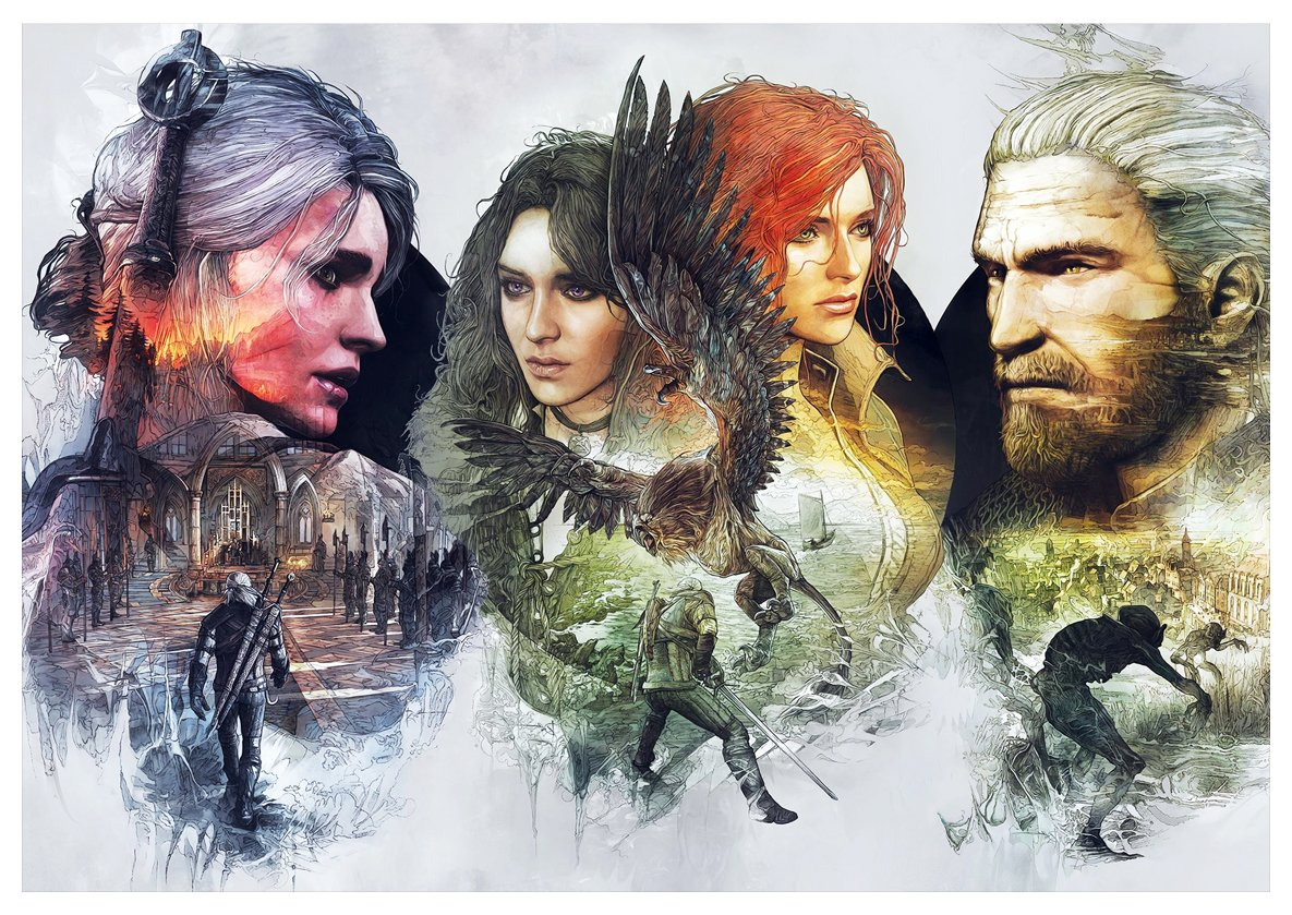 - Characters Formato A3 J Poster The Witcher 3 42x30 cm