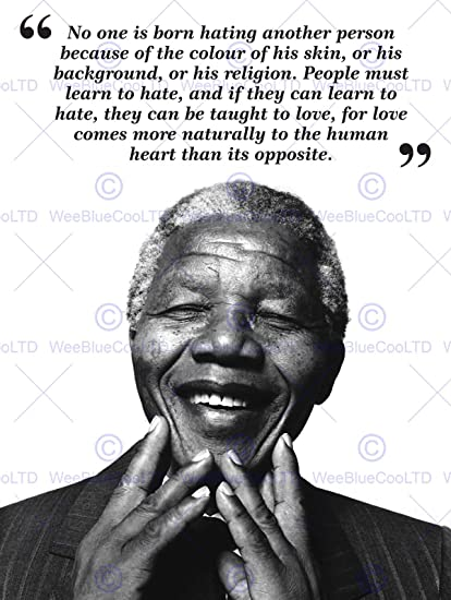 Amazon Wee Blue Coo No One Is Born Hating Nelson Mandela Bw