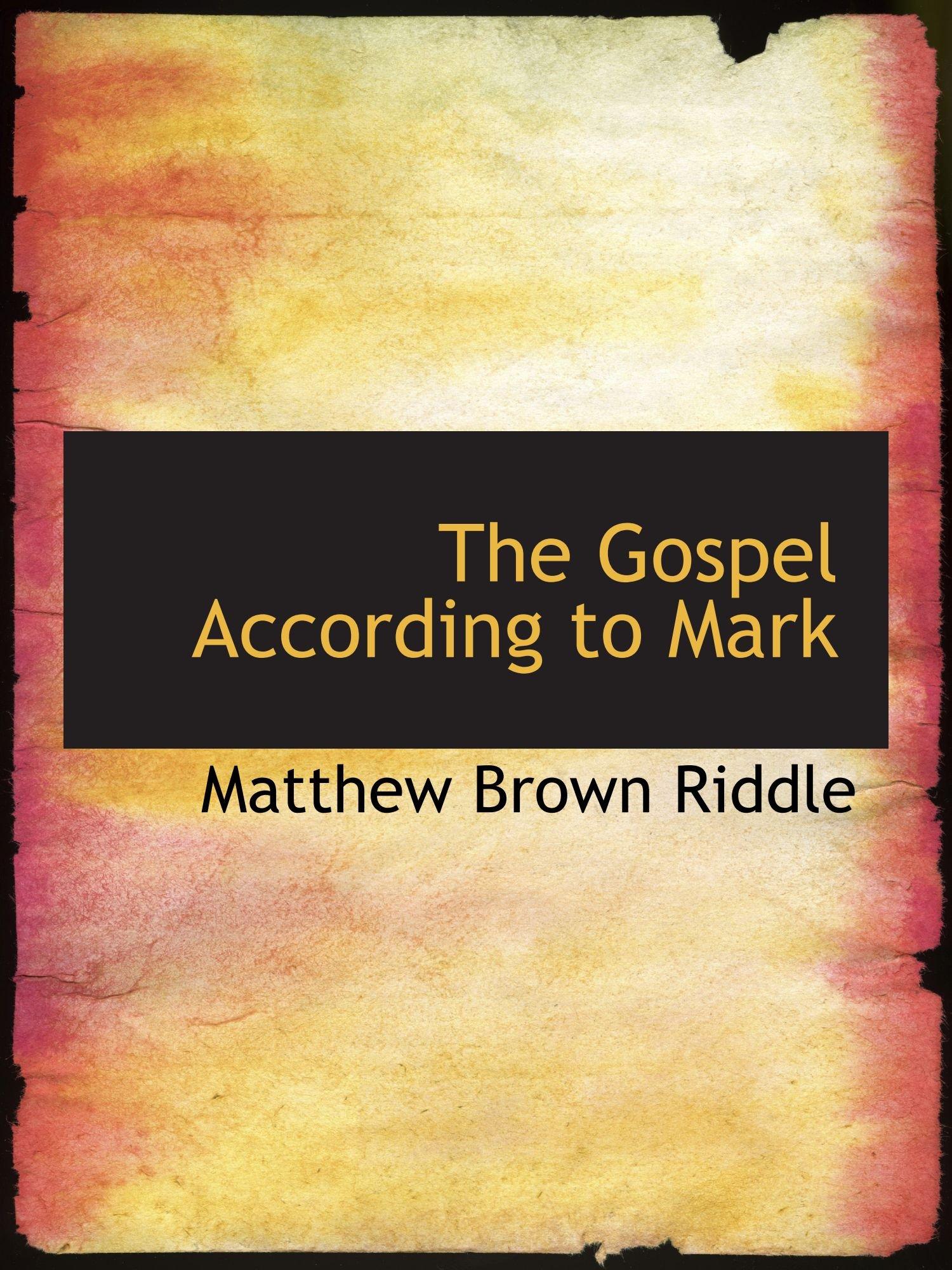 The Gospel According to Mark pdf epub