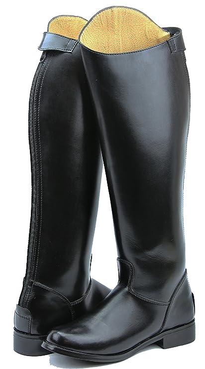 025093ac3567d Hispar Women Ladies Decent Dress Dressage Boots With Zipper Riding English  Equestrian (Black, 6