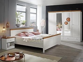 DOVER Schlafzimmer Kiefer weiß/honig: Amazon.de: Küche & Haushalt