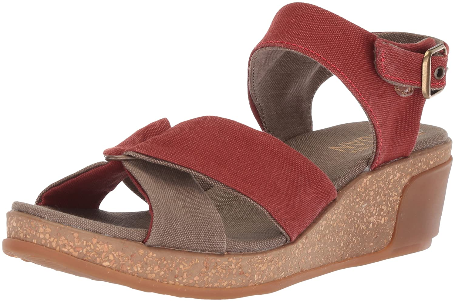 El Naturalista Women's N5007t Seaweed Canvas Caldera/Leaves Wedge Sandal B075LH2JB2 37 Medium EU (7 US)|Caldera