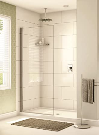 48u0026quot; X 78u0026quot; Fixed Glass Shower Panel