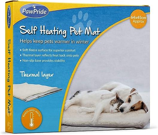 45 x 45 cm Cuscino Riscaldante Impermeabile PINPOXE Coperta riscaldante per Animali Domestici Coperta autoriscaldante per Gatti e Cani Coperta per Gatti Tappetino Termico