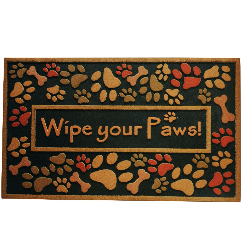Amagabeli Wipe Your Paws Doormat Non Slip Entrance Rug