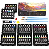 Watercolor Paint Set by Emooqi - 48 Premium Vibrant Colors Art Pigment Painting Kit, Free 3 Brushes, Great for Kids Adults Ar