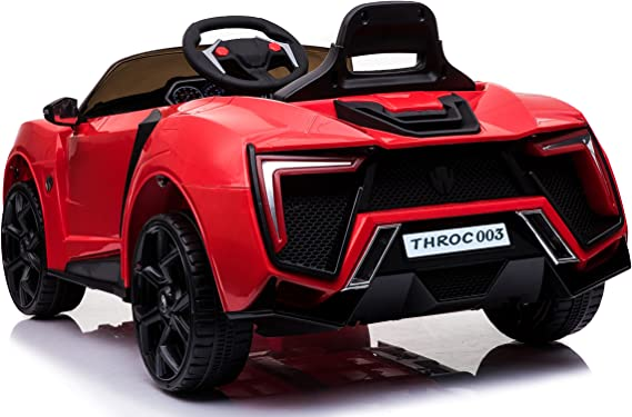 TOYHOUSE Kids Fast n Furious Lykan Hypersport Car Rechargeable Battery Operated Ride-on(Red)