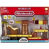 Nintendo Jakknin020LCDim - World Of Micro Land Playset Deluxe Layer Cake Desert With Ice Mario Figure
