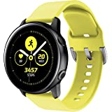 ANCOOL Compatible with Samsung Galaxy Watch Active 40mm/Galaxy Watch 42mm/Gear Sport Bands,20mm Soft Waterproof Silicone Sport Strap Wristband for Women Men-Yellow