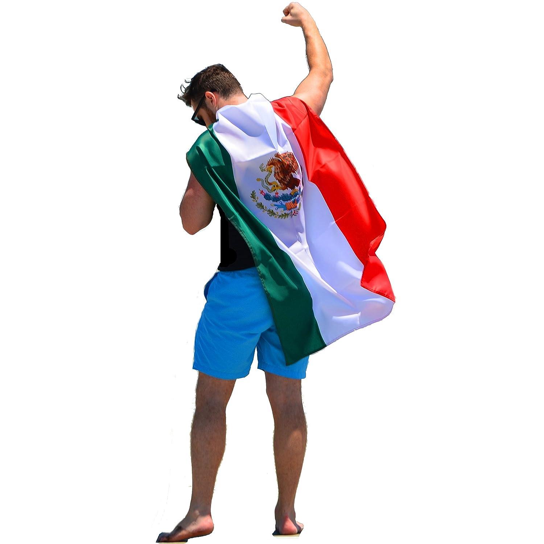 amazon com freedomcapes mexican flag cape lucha libre costume