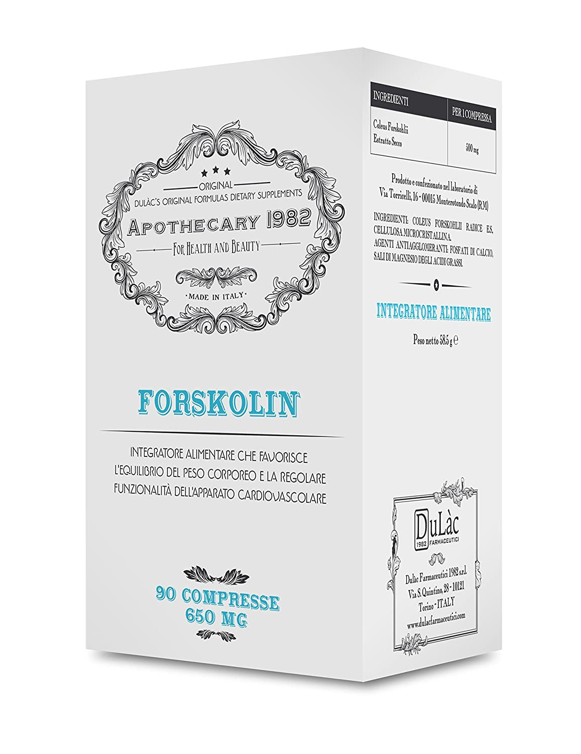 Amazon.com: Apothecary 1982 - Forskolin - 90 Tablets - Slimming (Combined with a Healthy Diet and Physical Activity) and Fat Burning - 500 mg - 100% Made in ...