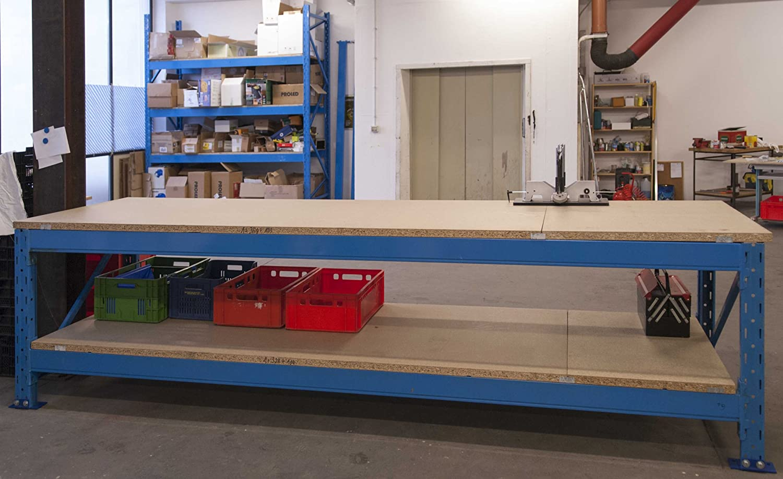 Tavolo Da Lavoro Kupper : Banco da lavoro bancone in metallo industriale professionale usato