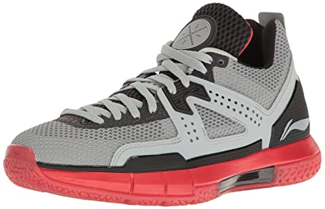 Way Of Wade Men's Wow 5 Grey and Lava Red Basketball Shoe